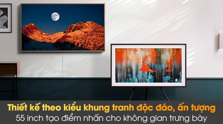 Tivi Samsung The Frame 55LS03A sở hữu thiết kế khung tranh độc đáo và ấn tượng