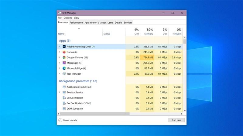 cách tắt ứng dụng bị treo trên Windows