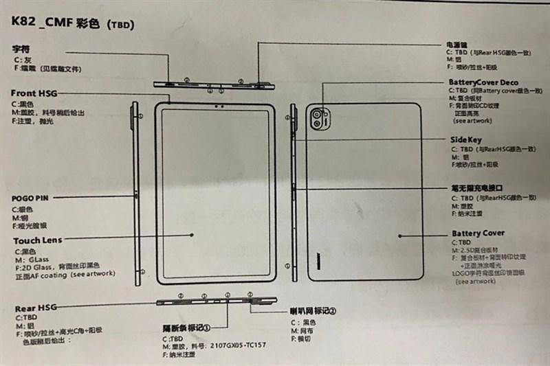 Xiaomi Mi Pad 5 lộ bản phác thảo thiết kế