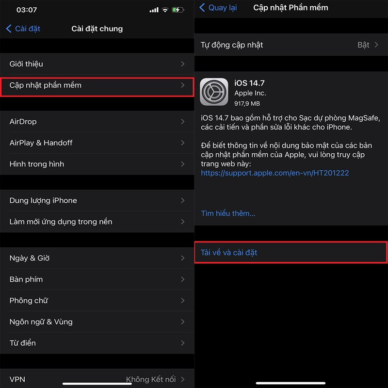 Cách cập nhật iOS 14.7 chính thức