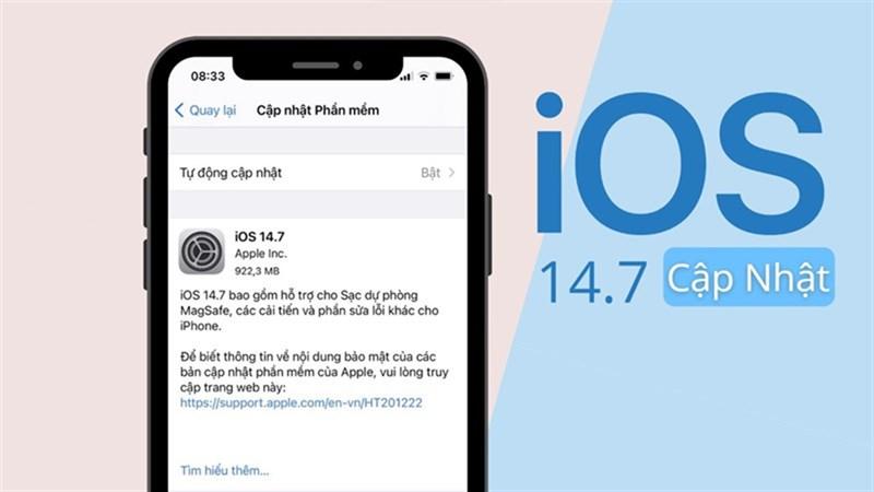 iPhone XR cập nhật iOS 14.7 mới nhất
