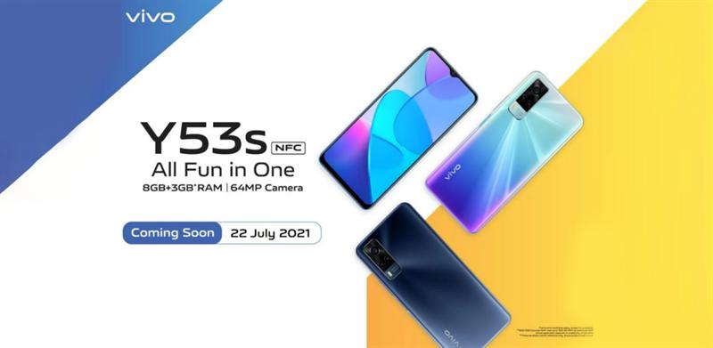 Vivo Y53s NFC sẽ ra mắt vào ngày 22/7 tại Indonesia