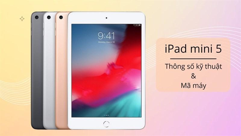 Cấu hình iPad mini 5