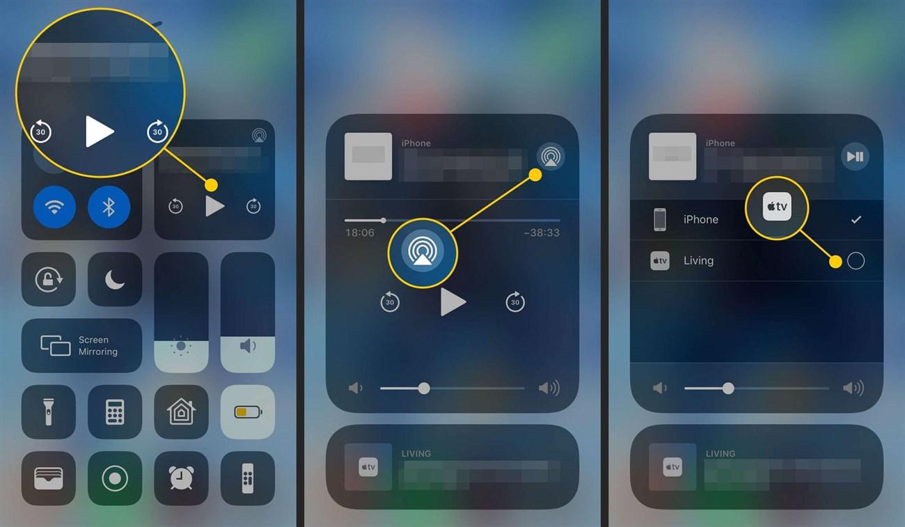 Kết nối iPhone với AirPlay