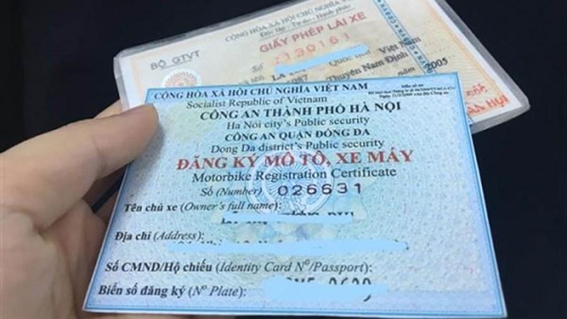 giấy chứng nhận xe