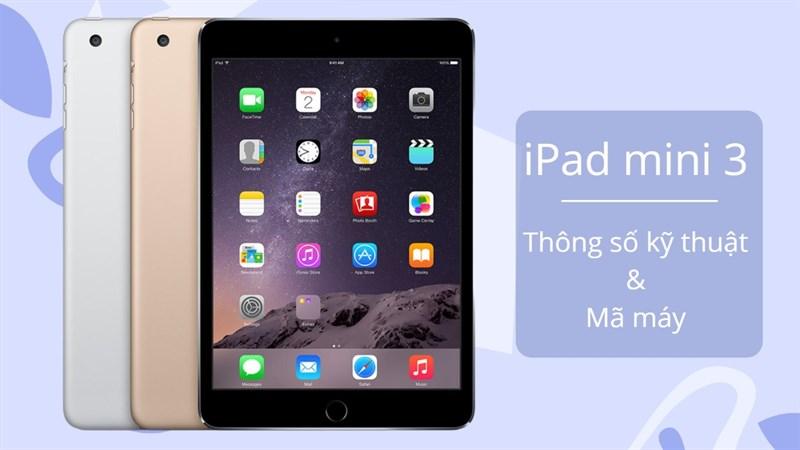 Cấu hình iPad mini 3