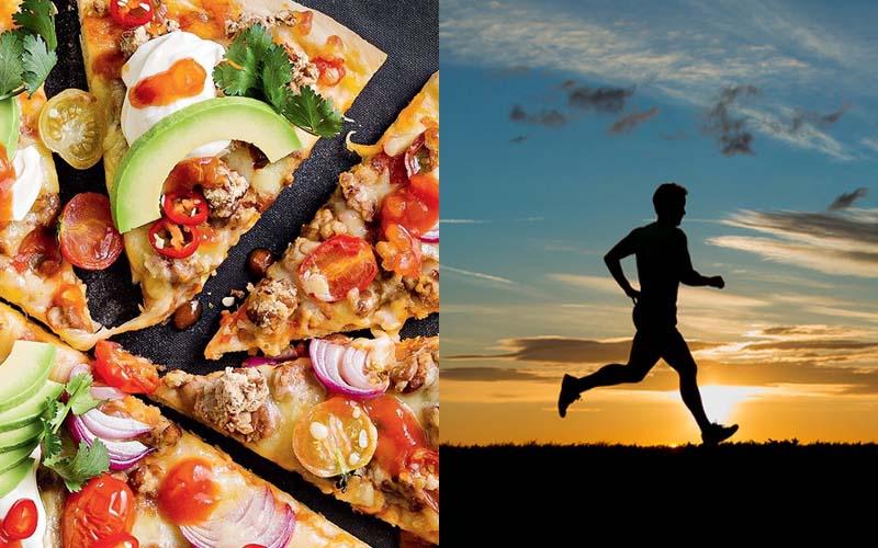 Bạn phải mất 30 phút chạy bộ để tiêu hao lượng calo từ pizza đấy
