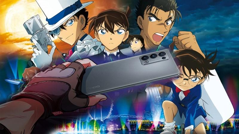 OPPO Reno6 Pro+ Detective Conan Custom Edition sắp ra mắt, fans Thám tử lừng danh Conan chắc thích lắm đây