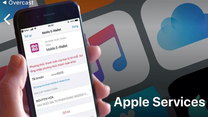 Thanh toán Apple Service trên Momo