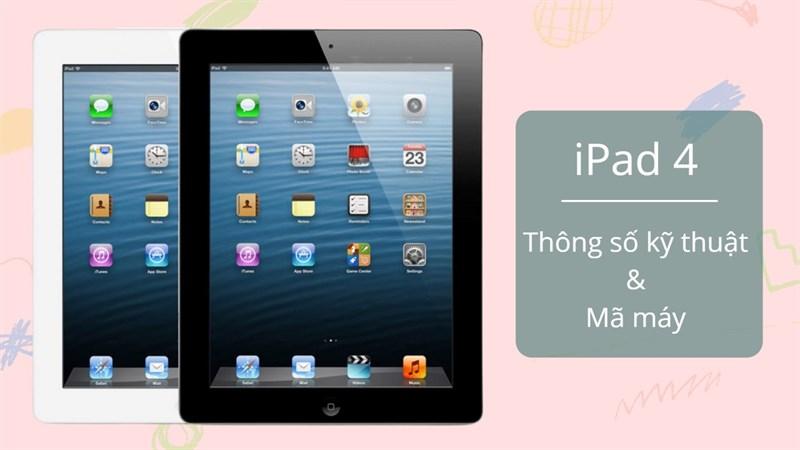 Cấu hình iPad 4