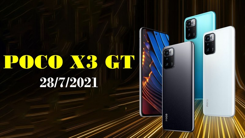 POCO X3 GT được xác nhận thiết kế và các phiên bản màu sắc trước ngày ra mắt chính thức