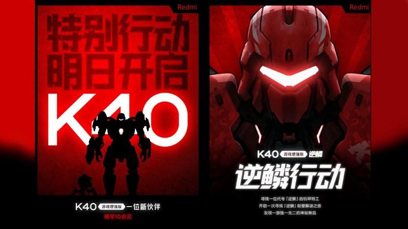 Xiaomi teaser sắp ra mắt một chiếc smartphone mới thuộc dòng Redmi K40