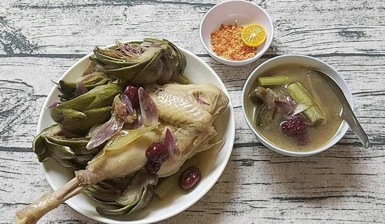 Bỏ túi cách làm món gà hầm atiso ngọt bùi cực dinh dưỡng bồi bổ cho cả nhà
