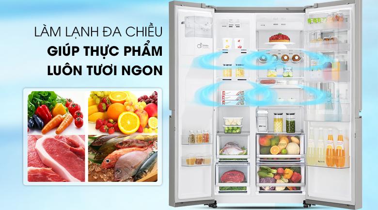Công nghệ làm lạnh đa chiều cho thực phẩm tươi ngon