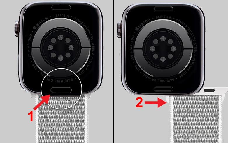 Cách tháo dây đeo đồng hồ Apple Watch vô cùng đơn giản