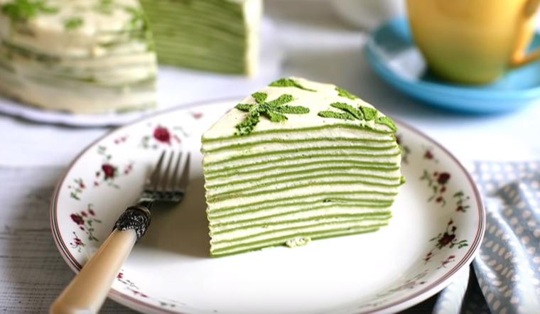 Bí quyết làm bánh crepe trà xanh ngàn lớp đơn giản tại nhà cực hấp dẫn