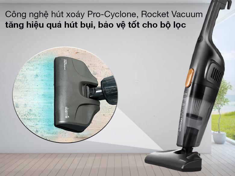 Thiết bị hút sạch bụi bẩn với công nghệ hút xoáy Pro-Cyclone, Rocket Vacuum