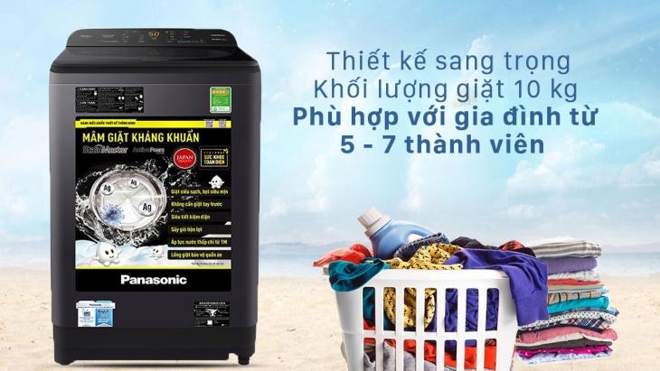 Máy giặt Panasonic dòng NA-A9BRV đa dạng khối lượng phù hợp ngay cả với gia đình nhiều thành viên