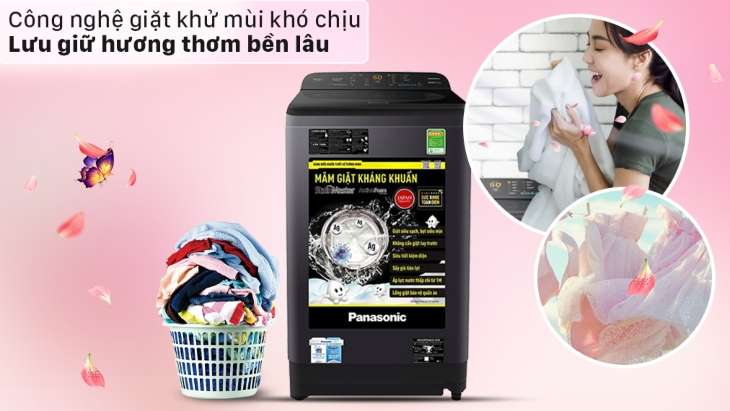 Công nghệ giặt khử mùi trên máy giặt Panasonic cho khả năng lưu giữ hương lâu hơn