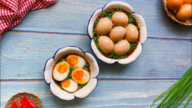 Trứng ngâm tương chuẩn vị Nhật