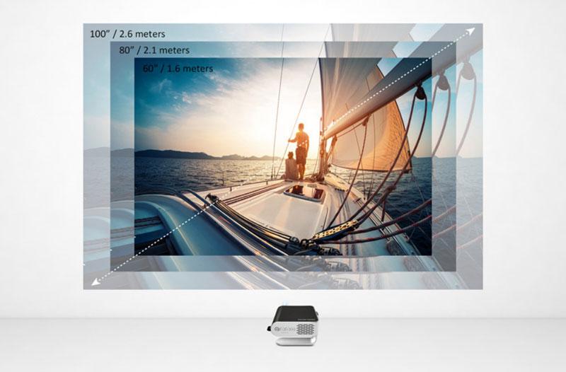 Máy chiếu ViewSonic sở hữu màn hình lớn như ở rạp chiếu phim