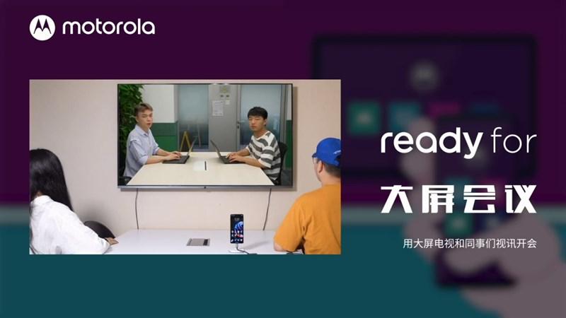Motorola teaser chức năng Ready For trên Edge S Pro