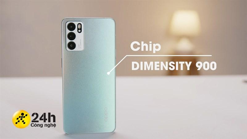 OPPO Reno6 5G cấu hình nổi bật với Dimensity 900 5G cùng RAM 8 GB.