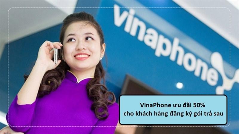 VinaPhone ưu đãi 50% cho những khách hàng đăng ký gói trả sau, quá đã!