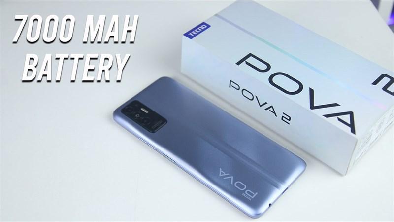 Tecno POVA 2 được trang bị viên pin lớn.