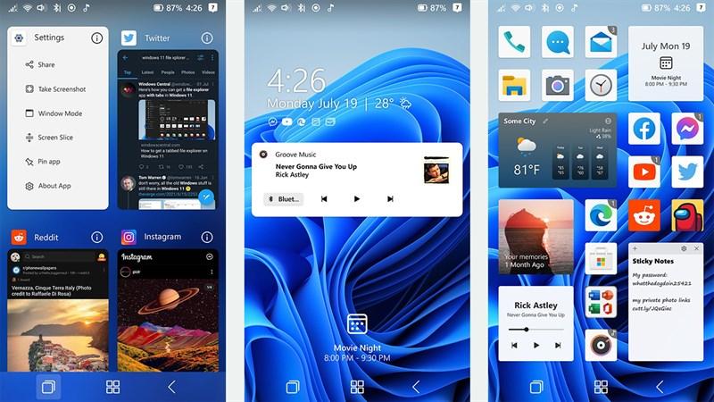 Concept Windows 11 cho smartphone