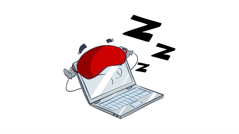 Với chế độ Sleep (ngủ). máy tính sẽ ngưng hoạt động các phần cứng, ngoại trừ RAM