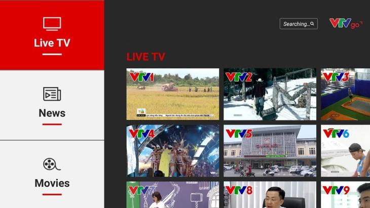 Ứng dụng xem Tivi VTV Go