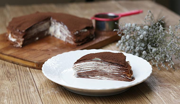 Cách làm bánh crepe Tiramisu ngàn lớp, đơn giản không cần lò