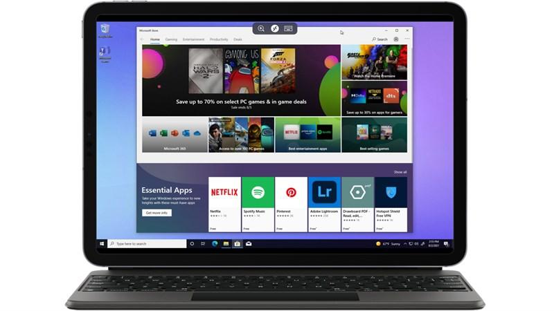 Microsoft Store trên Windows 365 cho phép chúng ta tải được hầu hết các ứng dụng cơ bản. Nguồn: Breakinglatest.