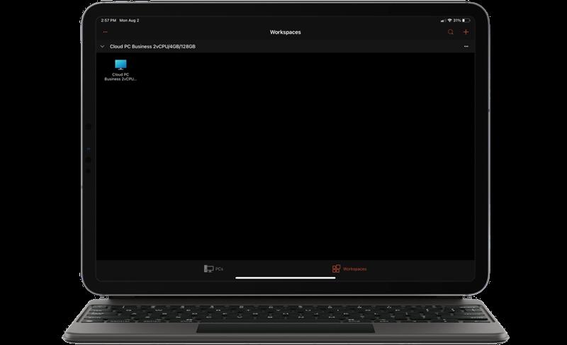Mức cấu hình của PC ảo mà tác giả đã chọn để chạy Windows 365. Nguồn: Microsoft.