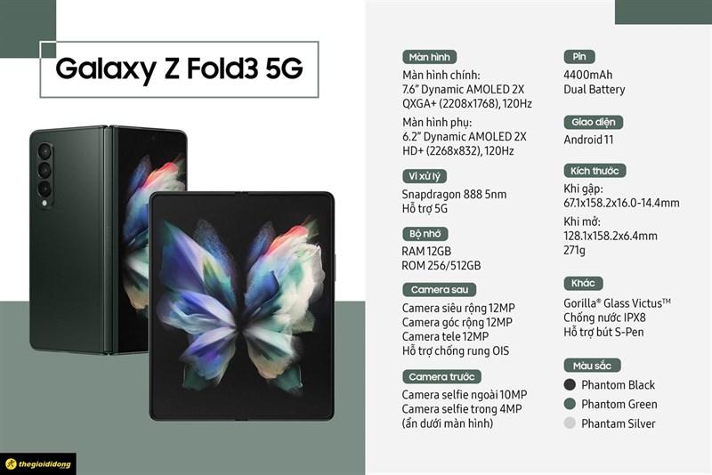 Cấu hình Samsung Galaxy Z Fold3 5G