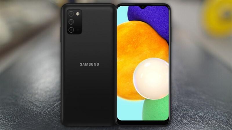 Galaxy A03s lộ ảnh render phiên bản màu đen