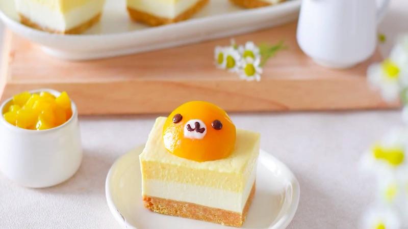 Cách làm bánh cheesecake đào ngâm không cần lò nướng ai cũng mê