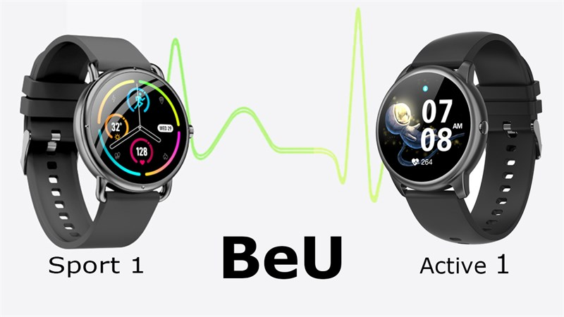 Smartwatch BeU Active 1 và Sport 1 lộ thiết kế, pin khủng đến 10 ngày