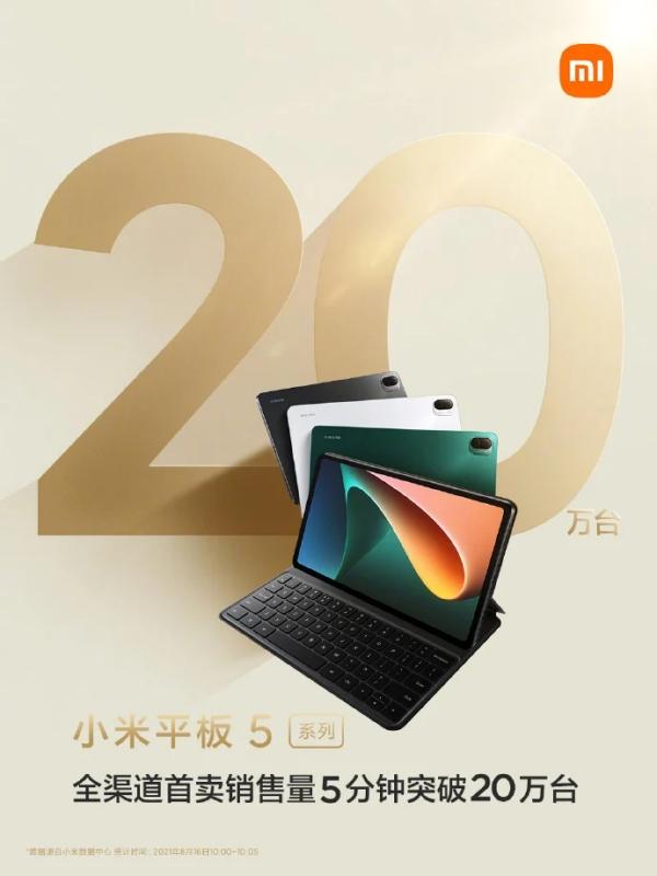 Chỉ 5 phút, 200.000 chiếc Xiaomi Mi Pad 5 series đã hết sạch trong đợt mở bán đầu tiên