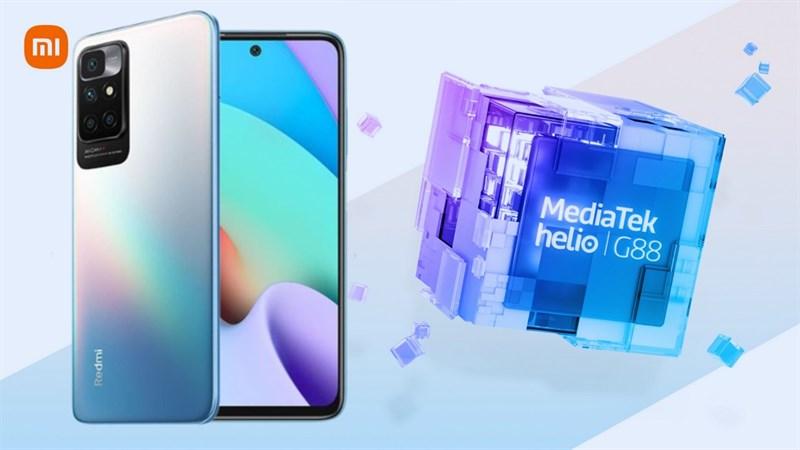 Redmi 10 trở thành điện thoại đầu tiên có chip Helio mới