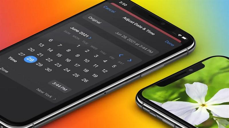 Cách sửa ngày giờ trên ảnh iPhone