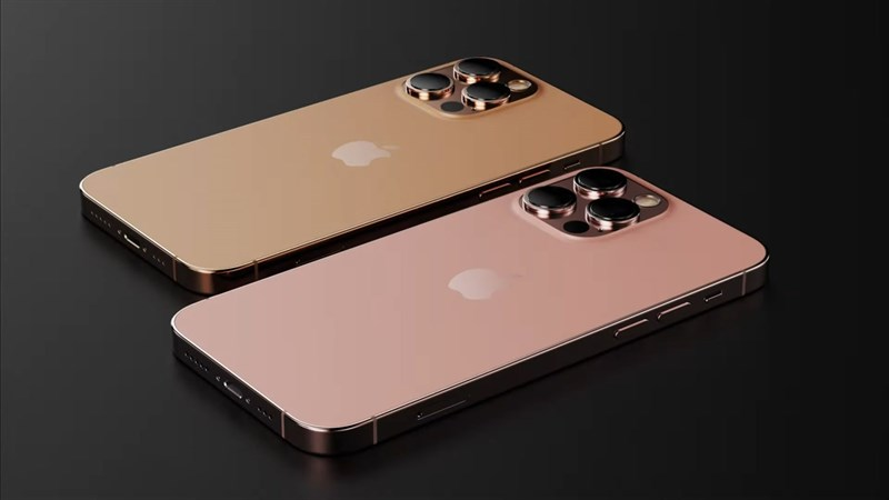 iPhone 13 Pro Max màu hồng (Rose Pink) và màu cam (Sunset Gold). Nguồn: LetsGoDigital.