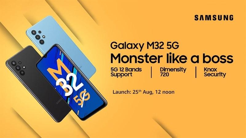 Samsung Galaxy M32 5G với Dimensity 720, pin 5.000mAh ra mắt vào 25/8