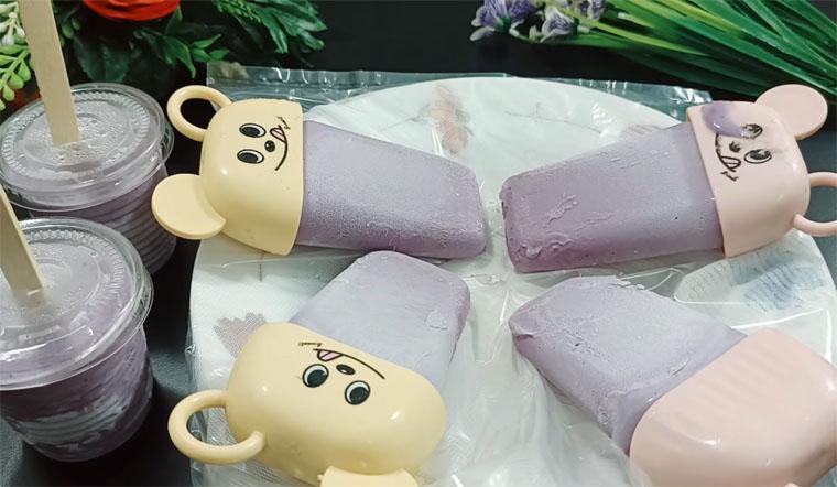 Cách làm kem khoai lang tím cốt dừa thơm mát dẻo mịn không dăm đá