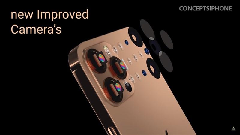 iPhone 13 cực kỳ cuốn hút trong bản concept mới: Màu Sunset Gold ấn tượng, camera lớn, notch nhỏ gọn hơn