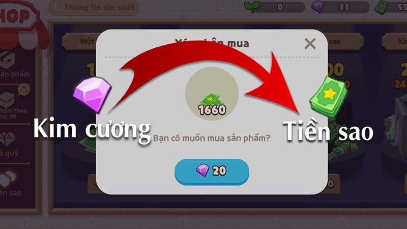Cách đổi kim cương ra tiền trong Play Together