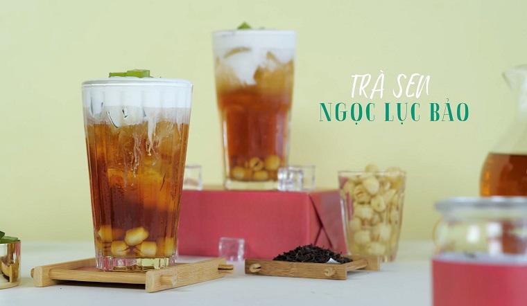 Cách làm trà sen ngọc lục bảo ngon chuẩn vị, uống là ghiền