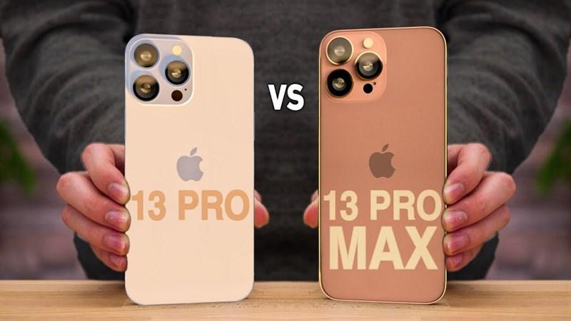 So sánh iPhone 13 Pro Max và iPhone 13 Pro: Phiên bản nào tốt hơn?
