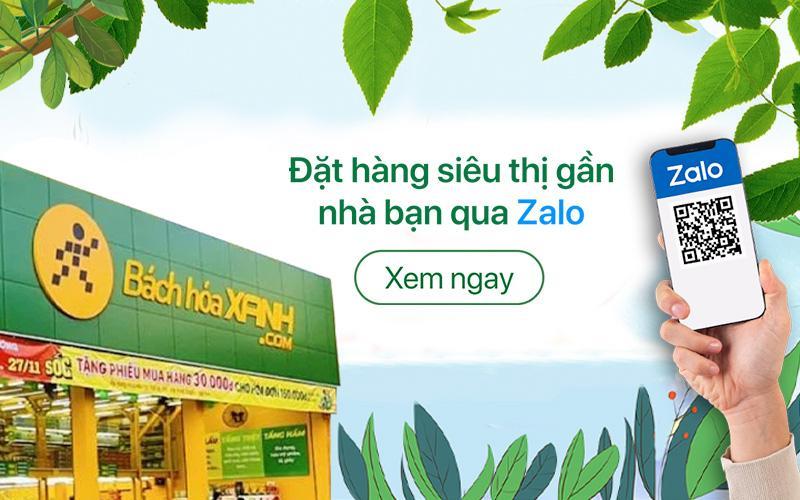 Đặt hàng và nhận hàng từ siêu thị gần bạn qua ứng dụng Zalo